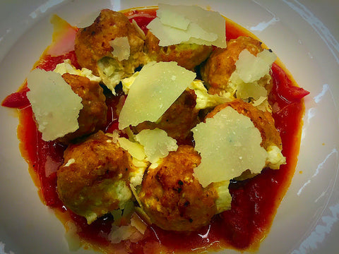Arrabiatta Mozzarella Stuffed Meatballs