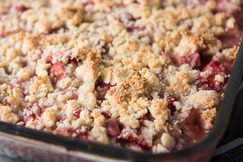 Fresh Strawberry Fruit Crisp
