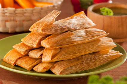 Assorted Tamales -  Choice of Chicken or Roasted Pepper and Cheese