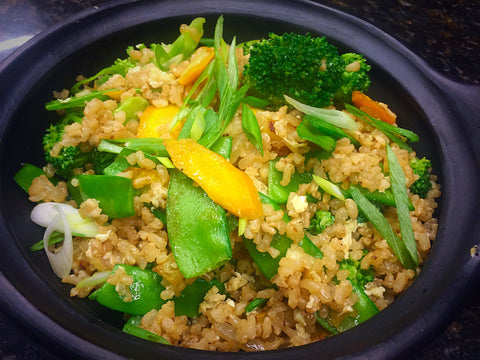 Pineapple Fried Brown Rice with Choice of Chicken, Shrimp or Marinated Tofu