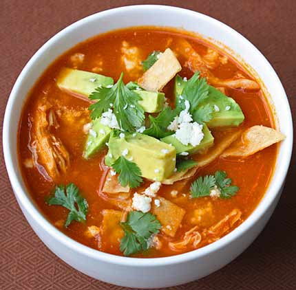 Tortilla Soup - Meat Option Available