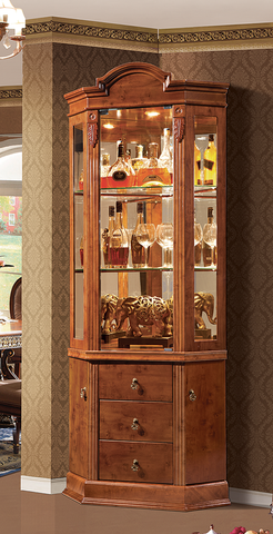 Red Solid Wood Wine Cabinet #5093