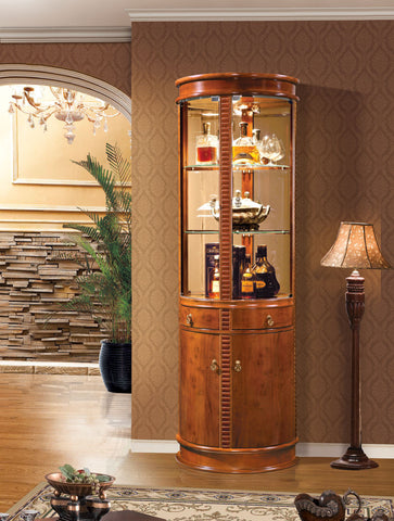 Red Solid Wood Wine Cabinet #5071