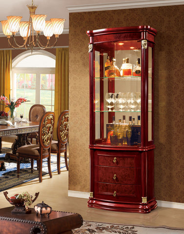 Red Solid Wood Wine Cabinet #5081