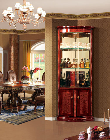 Red Solid Wood Wine Cabinet #5083