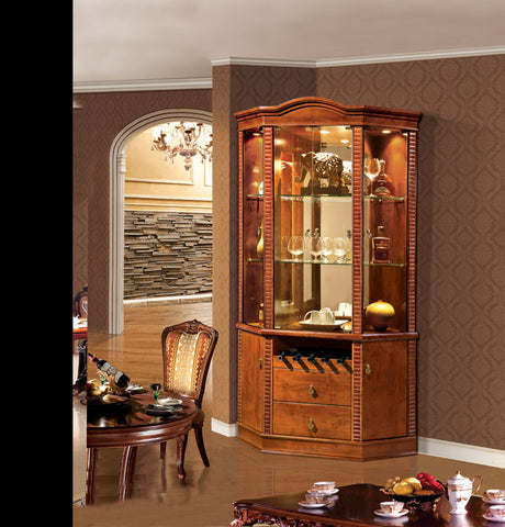 Red Solid Wood Wine Cabinet #5123