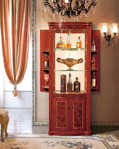 Red Solid Wood Wine Cabinet #6804