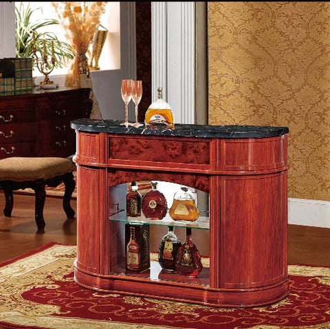 Red Solid Wood Wine Cabinet #6820