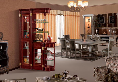 Red Solid Wood Wine Cabinet #D-903