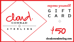 Cloud Conrad Sterling Gift Certificate $50