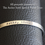 Archer Strong Silver Cuff