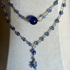 Blue Vintage Glass Necklace