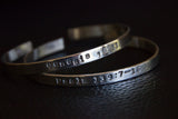 Bracelet with Custom Inscription