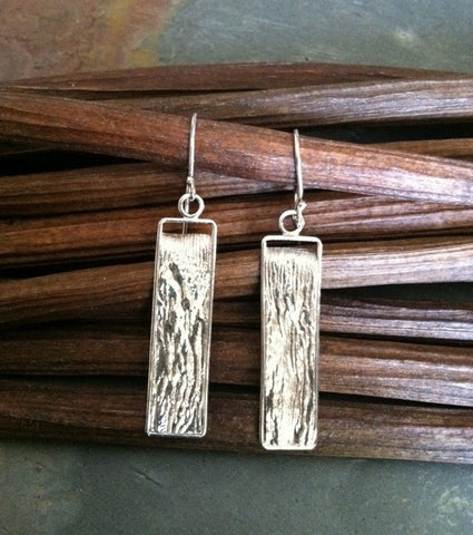 Reticulated Silver Earrings