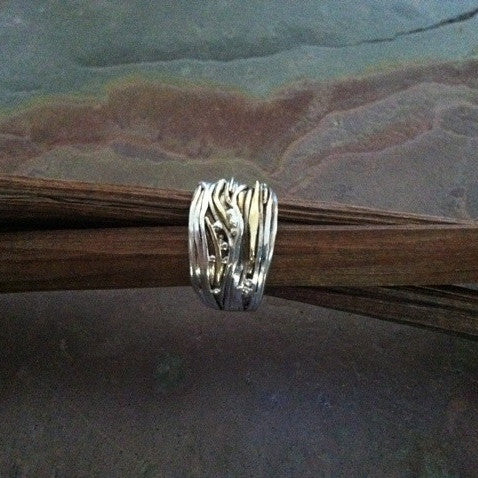 Sterling Silver and Gold Wrapped Ring