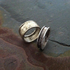 Reticulated Silver Ring - Narrow