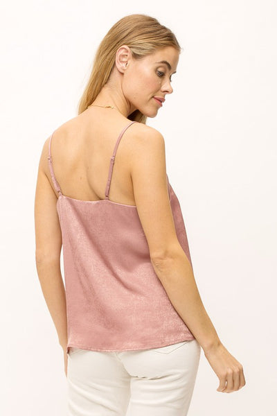 Muted Satin Tank Top Adjustable Straps (Multiple Colors)