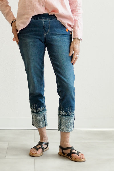 JAG Jeans Lewis Straight With Embroidered Cuff