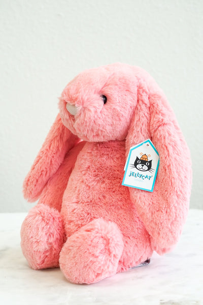 Jellycat Bashful Bunny Coral Stuffed Animal