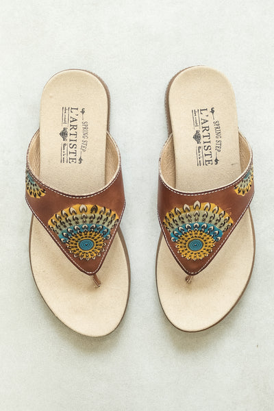 L'Artiste Shoes Mayura Brown Sandal