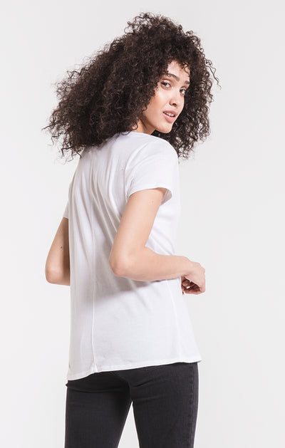 Z Supply Core V Tee- White