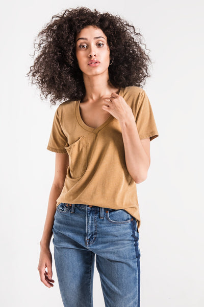Z Supply Clothing Pocket Tee Gold