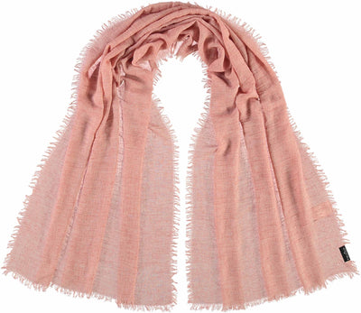 V. Fraas Solid Pastel Scarf in Salmon