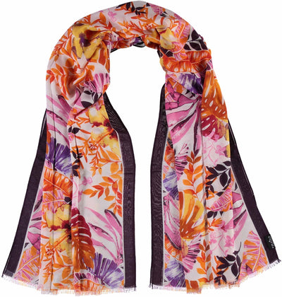 V. Fraas Frond Scarf in Orange