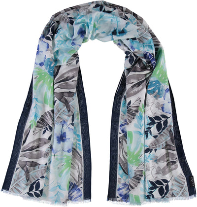 V. Fraas Frond Scarf in Turquoise