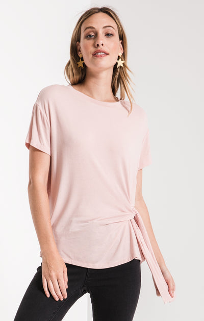 Z Supply Side Wrap Tee in Peachskin