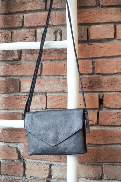 Latico Leathers Harbor Charcoal Crossbody Handbag