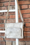 Latico Brooklyn Crossbody in Crackle White