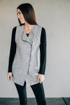 Tribal Boiled Wool Grey Vest