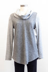 Tribal Mixed Grey Cowl Neck Top