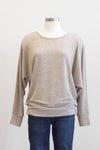 Apricot Marl Long Sleeve Batwing Stone Top