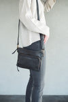 Latico Leathers Brooklyn Black Crossbody Handbag
