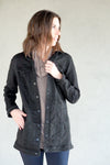 Tribal Maxi Black Denim Jacket