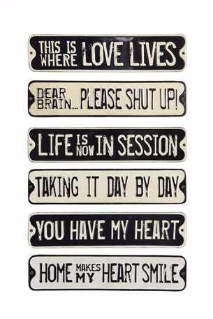 Tin Wall Decor with Saying
