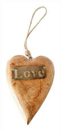 "8"" Wood Hanging Heart"