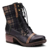 L'Artiste Eguine Black Multi Leather Boot
