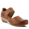 L'Artiste Gloss Wedge Shoes in Medium Brown