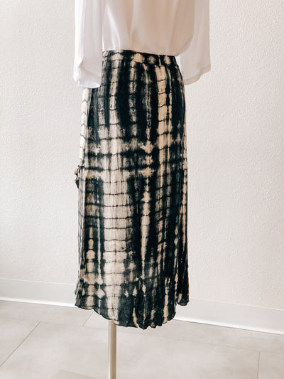 Lost River Cross Front Crinkle Skirt