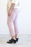 Tribal Lotus Pink five Pocket Capri Jeans