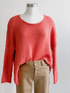 Wooden Ships Crop Boyfriend Crew-Sea Ranch Coral
