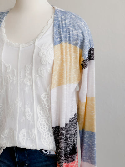 Tribal Name In Moments Marigold Striped Cardigan