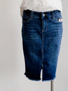Jag Betty Pencil Throne Blue Denim Skirt
