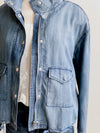 Tribal Loose Fit Bluewash Chambray Jacket
