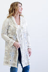 Johnny Was Lypven Hooded Ivory Duster Jacket