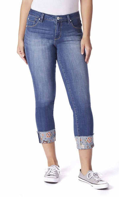 Jag Jeans Carter Girlfriend With Embroidered Cuff