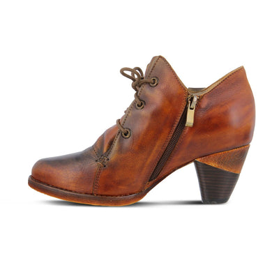 L'Atriste Juliane Camel Brown Leather Boot